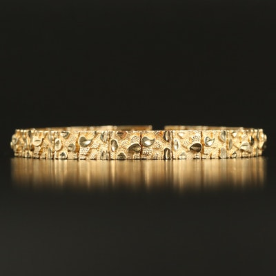 10K Textured Bracelet