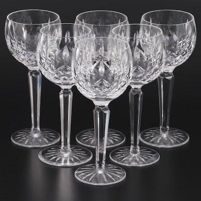 """Waterford """"Lismore"""" Crystal Wine Hocks"""
