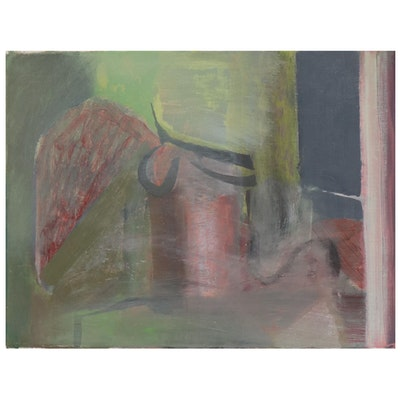 Dan Connally Abstract Oil Painting, 21st Century