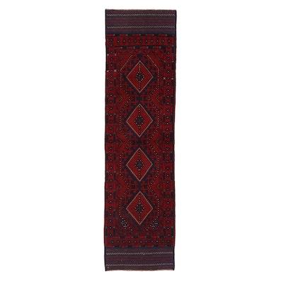 2'1 x 7'9 Handwoven Afghan Turkmen Mixed Technique Carpet Runner, 2000s