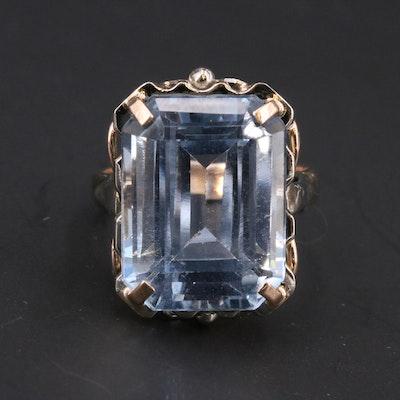 Vintage 12K Topaz Ring