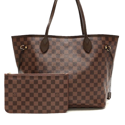 Louis Vuitton Neverfull NM Tote with Pochette in Daimer Ebene Canvas