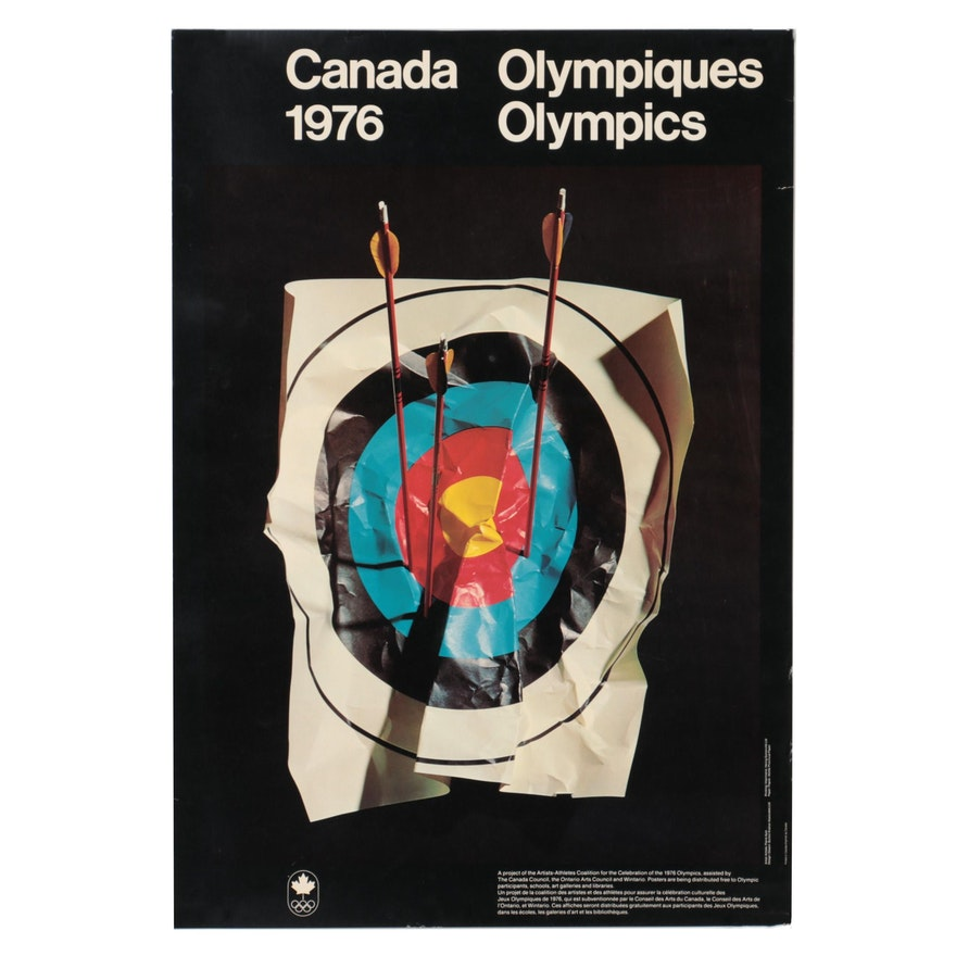 Canadian Olympics Offset Lithograph Poster After Pierre Ayot, 1976