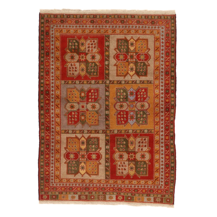 4' x 5'8 Hand-Knotted North West Persian Rug, 1970s