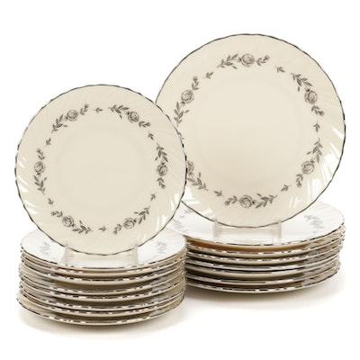 "Lenox ""Rosemont"" Fine China Dessert Plates, 1964–1977"