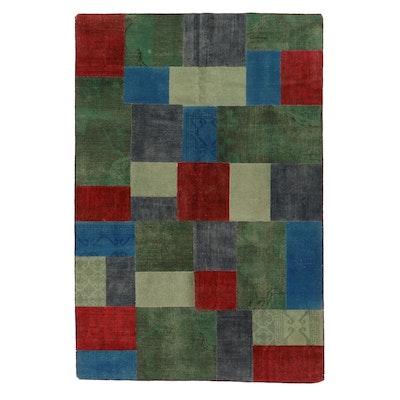 6'1 x 9'1 Handmade Persian Patchwork Area Rug