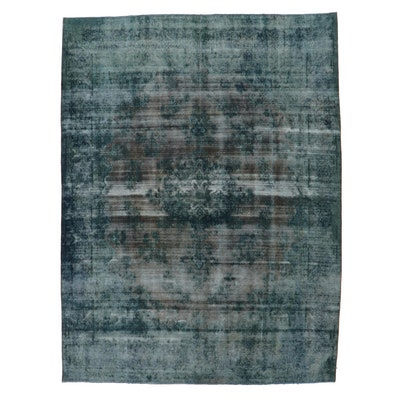 9'6 x 12'8 Hand-Knotted Persian Overdyed Room Sized Rug