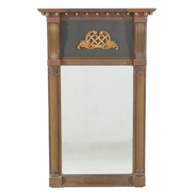 Neoclassical Style Trumeau Mirror, Late 20th Century