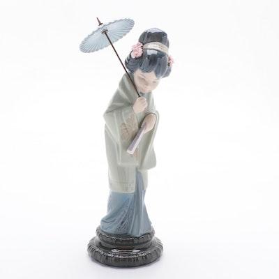 """Lladró """"Oriental Spring"""" Porcelain Figurine Designed by Salvador Debón"""