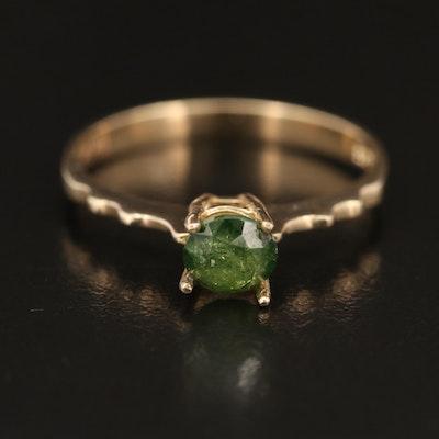 14K 0.65 CT Diamond Solitaire Ring