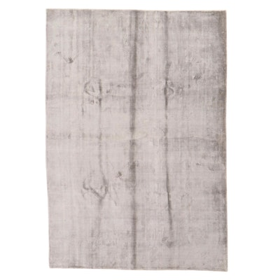 6'1 x 8'11 Hand-Knotted Indian Bamboo Silk Rug, 2010s