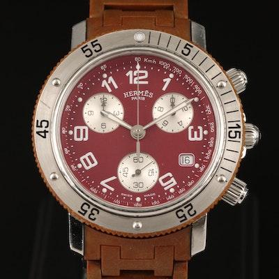 Hermès Clipper Diver Chronograph Stainless Steel Quartz Wristwatch