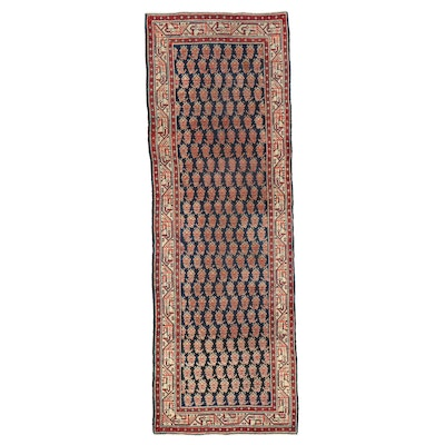 3'5 x 10' Hand-Knotted Persian Tabriz Long Rug, 1970s