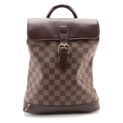 Louis Vuitton Soho Backpack in Damier Ebene Canvas