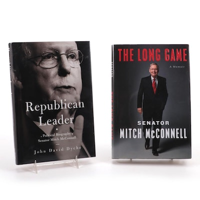 """Mitch McConnell Signed """"The Long Game: A Memoir"""" and """"Republican Leader"""""""
