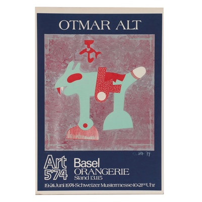Otmar Alt Exhibition Poster for Art Basel Orangerie, 1974