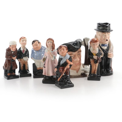 Royal Doulton Charles Dickens Porcelain Figurines with Toby and Character Mugs
