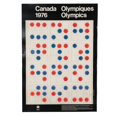 Canadian Olympics Offset Lithograph Poster After Michael Snow, 1976