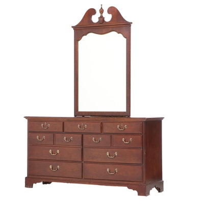 "Drexel ""Carleton"" Federal Style Cherrywood Seven-Drawer Dresser, Late 20th C."