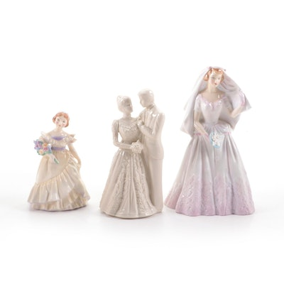 """Royal Doulton """"The Bride"""" and Other Wedding Themed Figurines"""