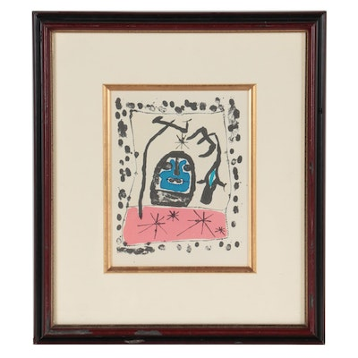 Lithograph after Joan Miró for Galerie Matarasso