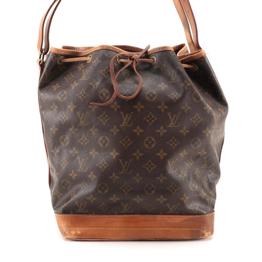 Louis Vuitton Noé Bucket Bag in Monogram Canvas with Vachetta Leather Trim