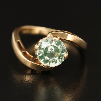 14K Spinel Bypass Ring
