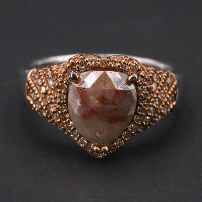 Sterling 1.80 CTW Diamond Heart Ring