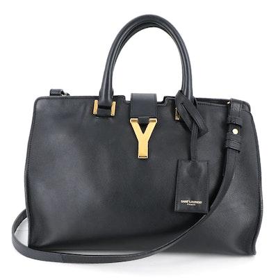 Saint Laurent Cabas Chyc Black Leather Two-Way Bag