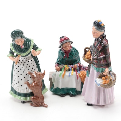 """Royal Doulton """"Silks and Ribbons"""", """"The Orange Lady"""" and """"Old Mother Hubbard"""""""