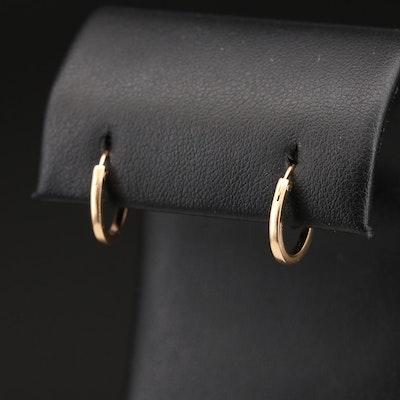 18K Huggie Hoop Earrings
