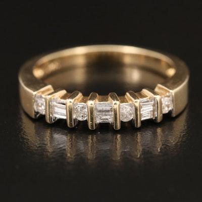 14K Diamond Channel Set Ring