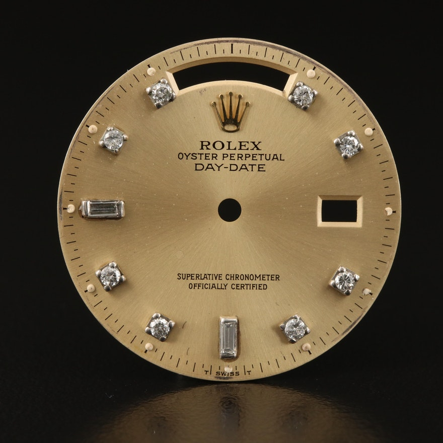 Aftermarket Rolex Day-Date Diamond Watch Dial