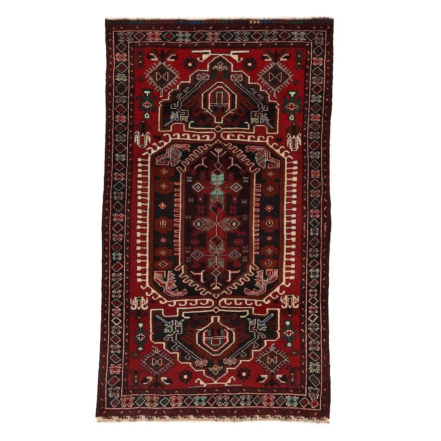 3'8 x 6'4 Hand-Knotted Persian Birjand Khorasan Rug, 2000s