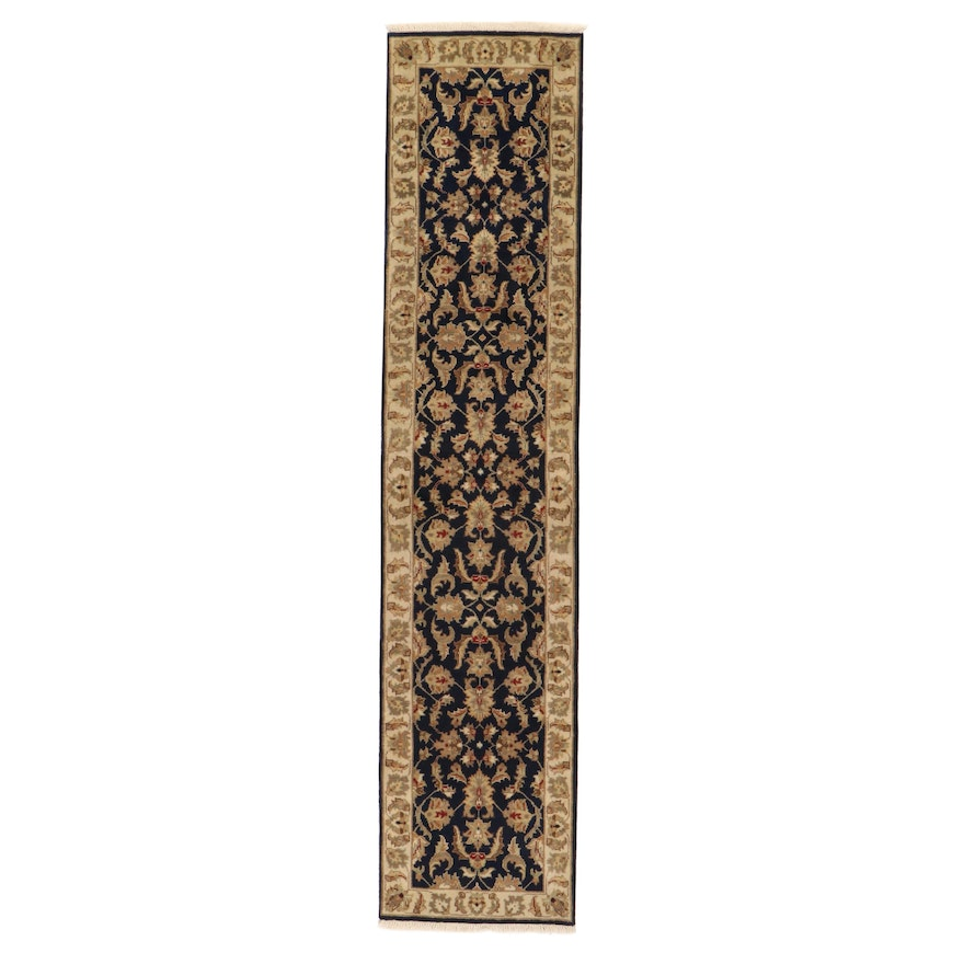 2'7 x 12'2 Hand-Knotted Indo-Persian Tabriz Capet Runner, 2010s