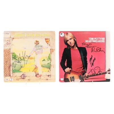 Elton John, Tom Petty Autographed Vinyl LP Records with COAs