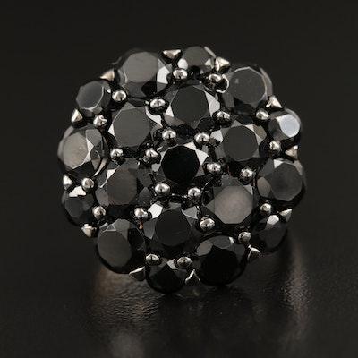 Sterling Silver Spinel Cluster Ring