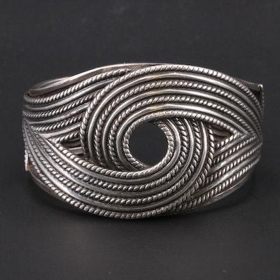 Danecraft Sterling Silver Cuff with Interlocking Pattern