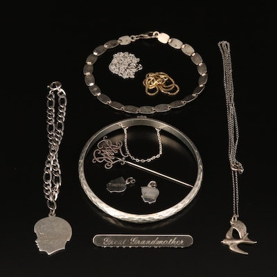 Sterling Grouping Including Vintage, Sterling and Assorted Jewelry