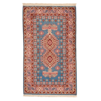 2'11 x 5'2 Hand-Knotted Sino-Persian Tabriz Rug, 2010s