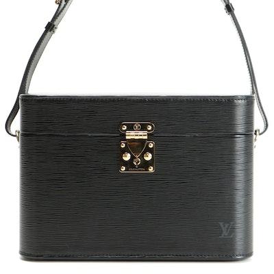 Louis Vuitton S-Lock Vanity Train Case in Black Epi Leather