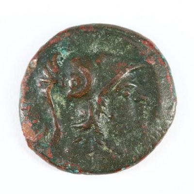 Ancient Macedonia AE20 Coin of Antigonos Gonatas, ca. 277 BC