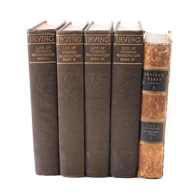 """Life of George Washington"" Four-Volume Set and More by Washington Irving"
