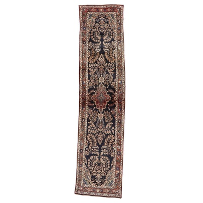2'9 x 12'5 Hand-Knotted Persian Lilihan Carpet Runner, 1970s
