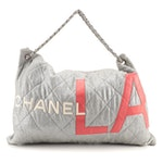 Chanel L.A. Cruise Tote in Quilted Metallic Jersey Knit