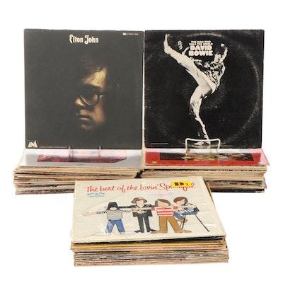 Queen, Elton John, John Lennon, David Bowie, Deep Purple, Other Vinyl LP Records