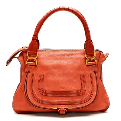 Chloé Marcie Medium Two-Way Satchel in Grained Leather
