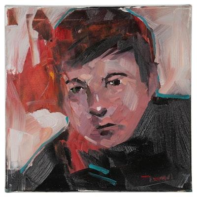 "Jose Trujillo Oil Painting ""Young Portrait Model"""