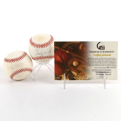 Ernie Harwell and George Kell Signed Official American League Baseballs, COA