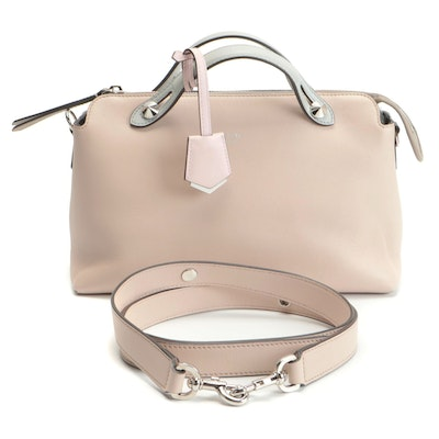Fendi By The Way Small Bag in Pink and Grey Calfskin Leather